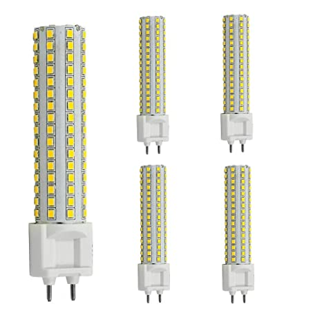 AscenLite LED G12 Bombilla 15W luz de maíz AC85-265V 360 grados 1500 lúmenes Blanco
