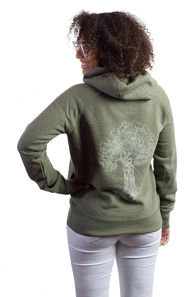 Life Tree Fairwear Organic Sweater Vereinigung Damens Khaki aus Biobaumwolle Größe S