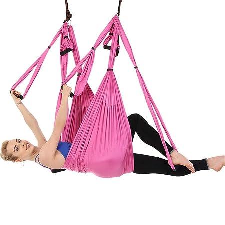Lwieui Columpio de Yoga Yoga Hamaca Interior Fitness ...