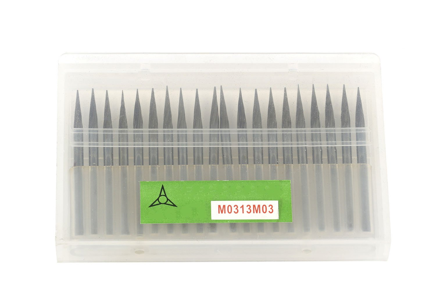 20Pcs Single Cut Conical Point Carbide Rotary Burr Bits Set 1/8'' Shank For Die Grinder by ZHONGYING (Image #3)