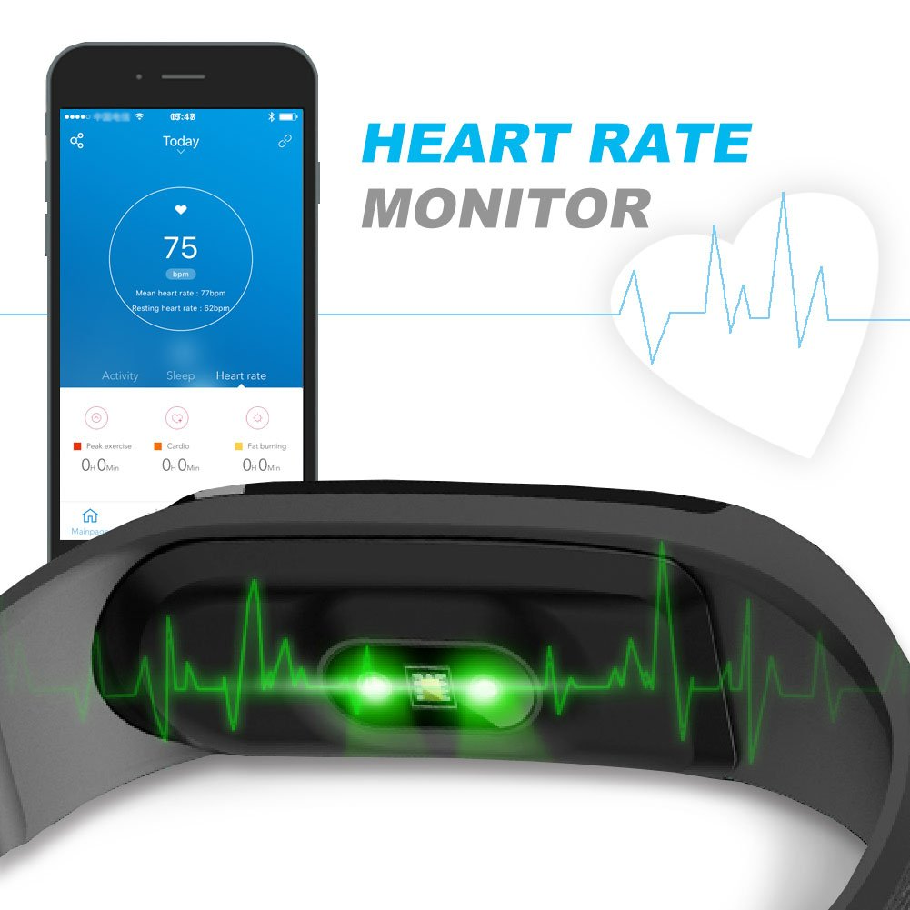 letscom fitness tracker heart rate monitor