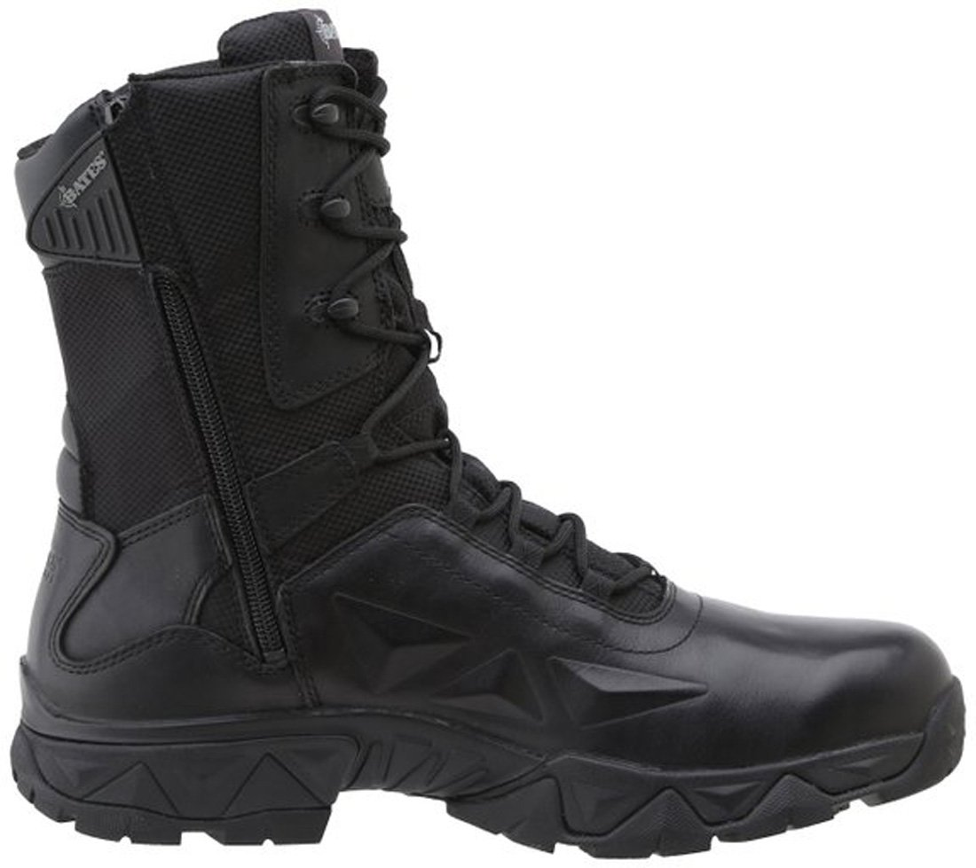 Bates Men's Delta Nitro-8 Zip Work Boot,Black,10 M US