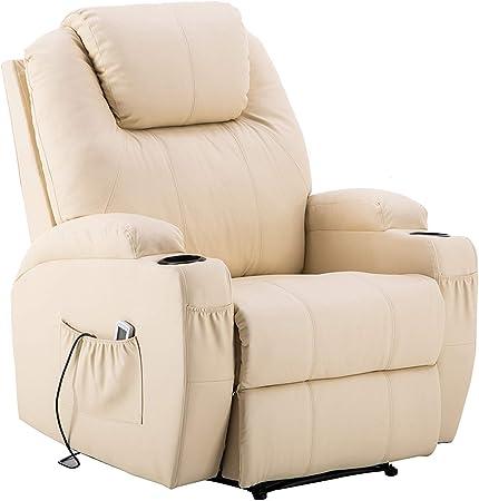 MCombo 7061 - Sillón de masaje eléctrico con función de vibración, modelo nuevo