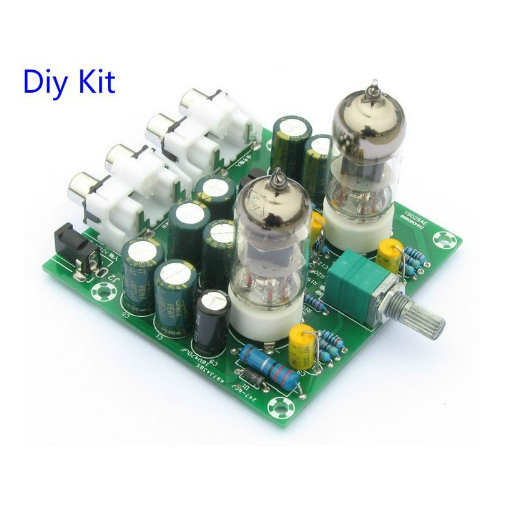 Northbear Ac 12v 6j1 Valve Pre Amp Tube Preamplifier Electret Microphone Amplifier Max4466 With Adjustable Gain For Arduino Board Headphone Buffer Diy Kit Kits Kitchen Dining