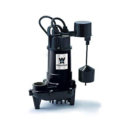 Superior Pump 1//3 HP Non-Submersible Pedestal Sump Pump