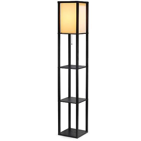 Amazon Shine Hai Shelf Floor Lamp For Living Roomsbedrooms