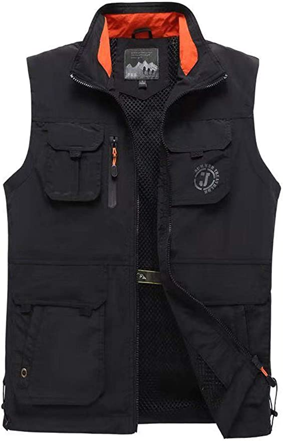 Photographing Outdoor Activities Multipurpose Quick Drying And Practical Suitable For Fishing SM SunniMix Mens Outdoor Multi Pocket Design Vest
