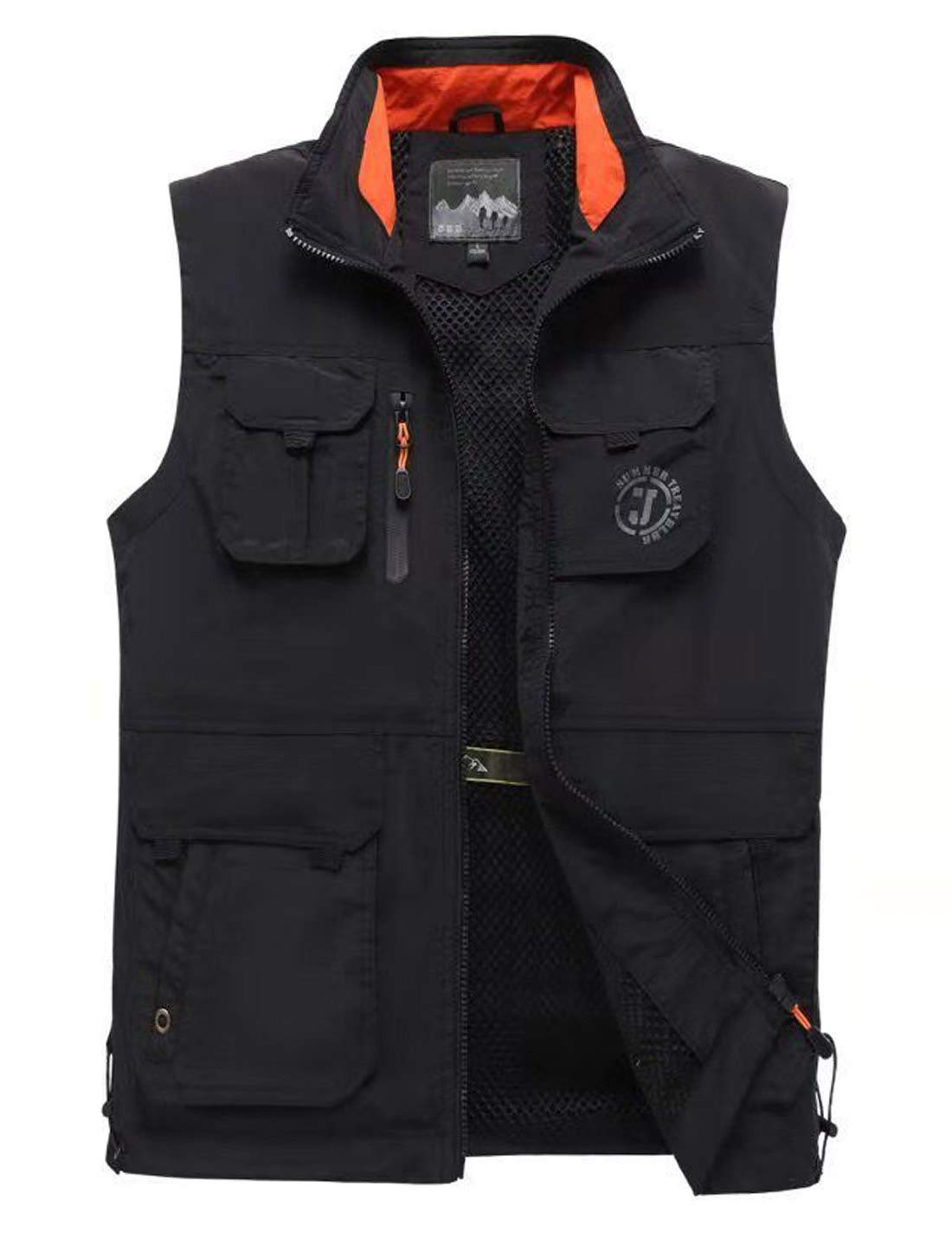 Gihuo Men's Lightweight Quick Dry Outdoor Multi Pockets Fishing Vest (Small, Style2-Black) by Gihuo