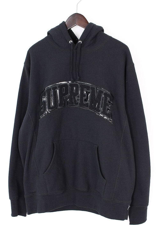 (シュプリーム) SUPREME 【17AW】【Patent Arc Logo Hooded Sweatshirt】パテントロゴプルオーバーパーカー(L/ブラック) 中古 B07FMS58JZ  -