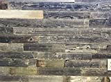 Vinta Wood Rustic Reclaimed Barnwood Wall Planks - Easy Peel and Stick Wood - 10 Sq Ft. 3'' Wide