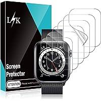 LK 6 stuks beschermfolie voor Apple Watch Series 6 5 4 SE 40 mm folie met ring - zonder luchtbellen, krasbestendig…