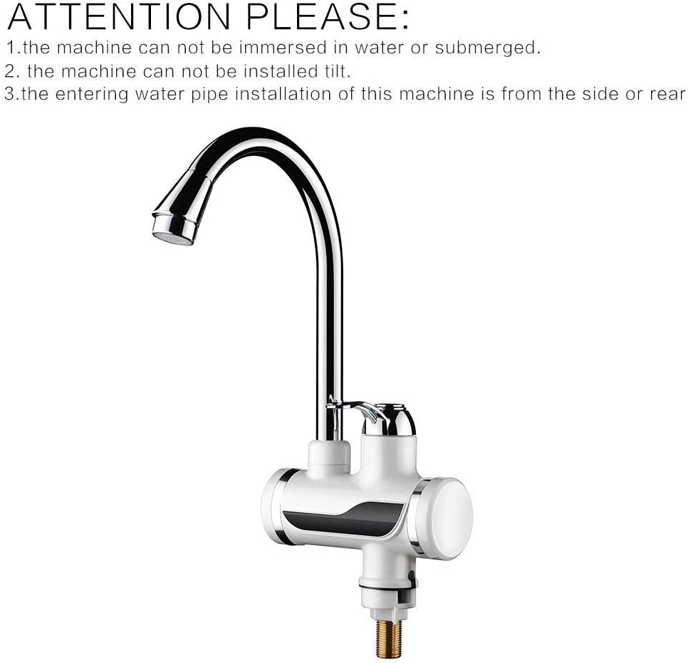 Sink Faucet Instant Electric Hot Water Heater Kitchen Toilet Fast Heating Plug ~