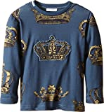 Dolce & Gabbana Kids Baby Boy's Crown Print Long Sleeve T-Shirt (Toddler/Little Kids) Green/Crown Print 2T Toddler