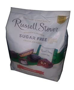 Russell Stover Sugar-Free Chocolate Candy Assortment Sampler 19.9 Ounce Bag
