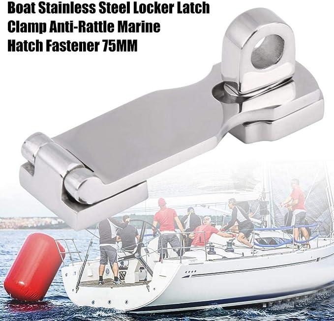 agrafe 75MM de trappe marine anti-hochet de bateau en acier inoxydable de casier de loquet Attache de trappe