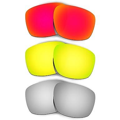 41822486094 Hkuco Mens Replacement Lenses For Oakley Sliver Red 24K Gold Titanium  Sunglasses