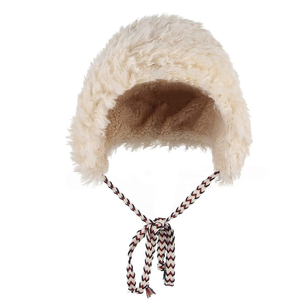 Lukis Bonnet Chaud Beanie Agneau Fourrure Faux Chapeau Ski Automne Hiver  Enfant Adulte Fille Femme Chapka  Amazon.fr  Vêtements et accessoires 64598d0f7dc