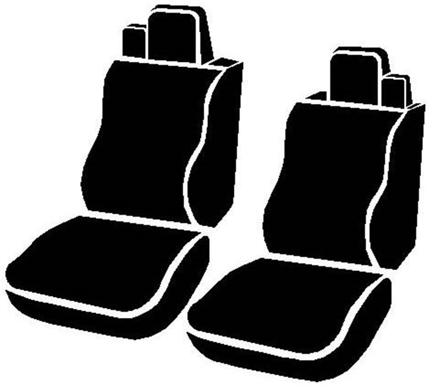 Gray Fia OE37-16 GRAY Custom Fit Front Seat Cover Bucket Seats Tweed,