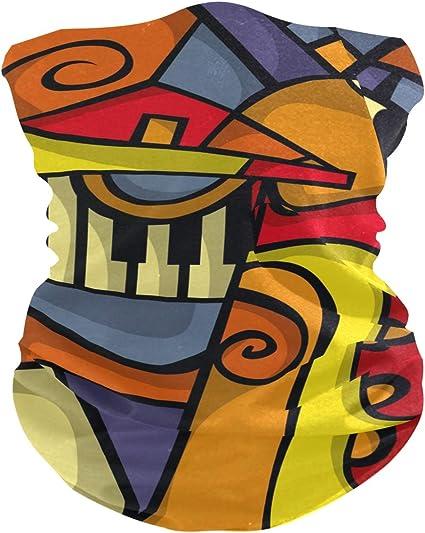 Neck Gaiter-Face Mask-Head Scarves-Headband-Abstract Maroon Bandana