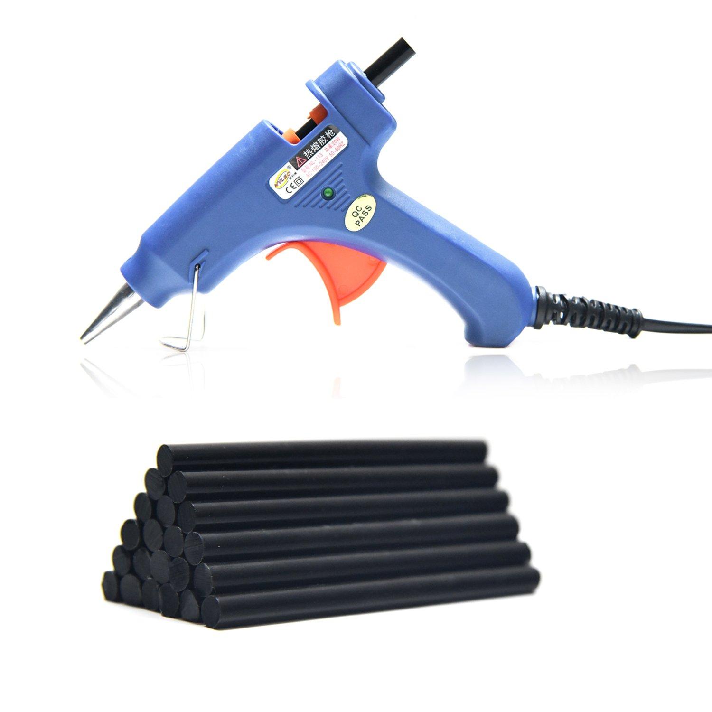 Neitsi Mini Hot Melt Glue Gun High Temperature Melting Glue Gun Kit with 12pcs Glue Sticks (Black)