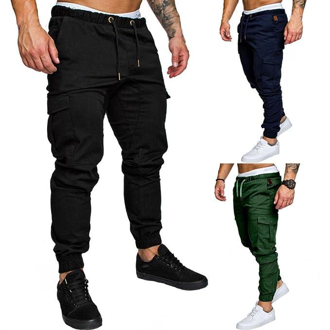 cd9a3c0354c3a6 Morwind Pantaloni Uomo Eleganti Neri - Pantaloni Neri Da Lavoro - Pantaloni  Uomo Tuta Elastica Casual