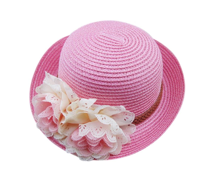 8070a3c56 De bajo costo Sombrero de paja para bebés Sombrero de niña plegable de  verano Flores Gorro