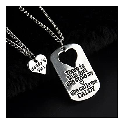 Amazoncom Daddys Girl 2 Piece Necklace Set Father Daughter Gift