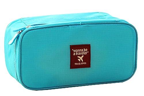 Funda de viaje ropa interior Cajas de almacenamiento sujetador organizador sujetador bolsa Proteger sujetador lencería Bolsa, color Azul, talla: Amazon.es: ...