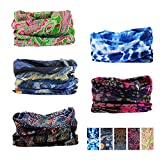 Oureamod Wide Headbands for Men and Women Athletic Moisture Wicking Headwear for Sports,Workout,Yoga Multi Function (Pattern 2)