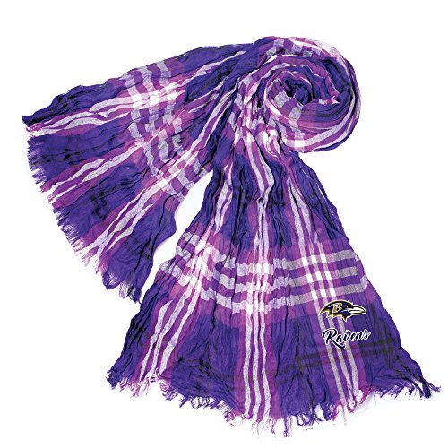 Littlearth NFL Baltimore Ravens Sheer Infinity Plaid Scarf by Littlearth