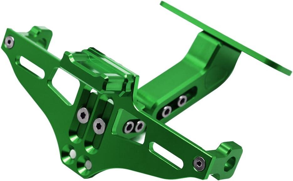Universal Einstellbar Cnc Aluminum Motorrad Kennzeichenhalter Fender Eliminator Halter Für Mt 01 Mt 03 Mt 07 Mt 09 Mt 10 Für Kawasaki Z750 Z750r Z800 Z900 Z1000 Grün Auto