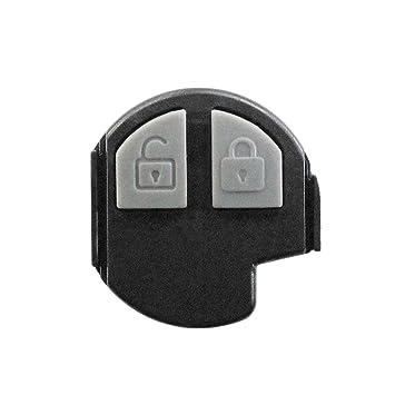 Goma 2 teclas Repuesto mando a distancia carcasa llave negro ...