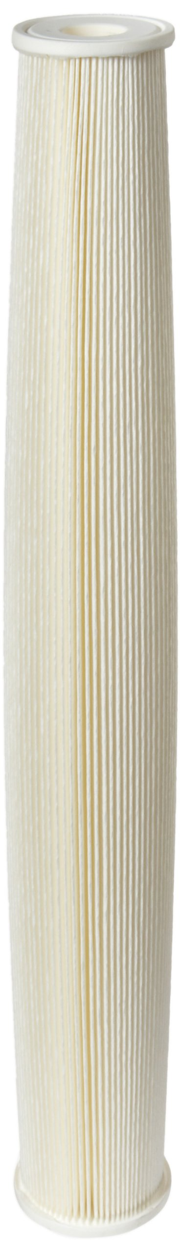 Pentek ECP5-20 Pleated Cellulose Polyester Filter Cartridge, 20'' x 2-5/8'', 5 Microns