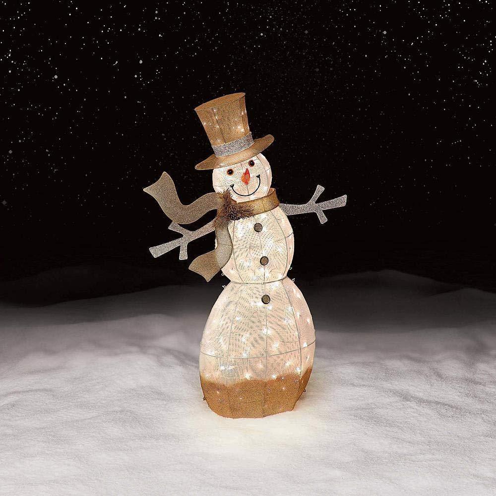 Jaclyn Smith 52In 150L Snowman Gradient Gold