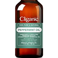 Cliganic 100% Pure Peppermint Essential Oil to Repel Mice Spiders (30ml)   Perfect for Aromatherapy   Natural Mentha Piperita Plant   100% Satisfaction Guarantee
