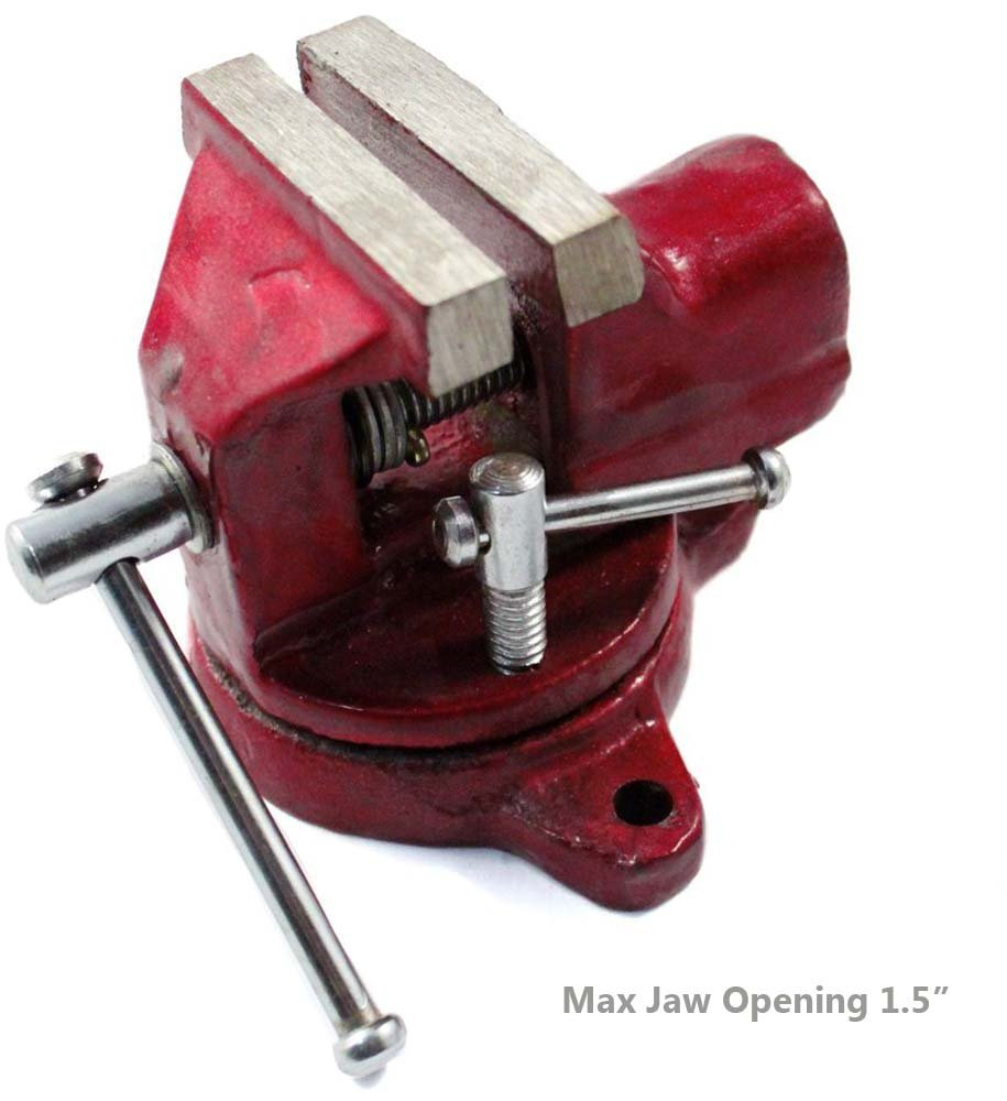 2'' Jaw Mini Steel Swivel Bench Vise for Jewelers Hobby Craft Tool