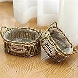 EXDJ Handmade Wicker Flower Basket rattan flowerpot hand-woven home decoration products,combination