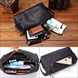 Mens Toiletry Bag Dopp Kit Leather Toiletry Bag for Man Makeup Bags for Women leather Makeup Pouch Cosmetic Bag Waterproof Toiletry Bag Organizer Cosmetic Bag with Portable Handle