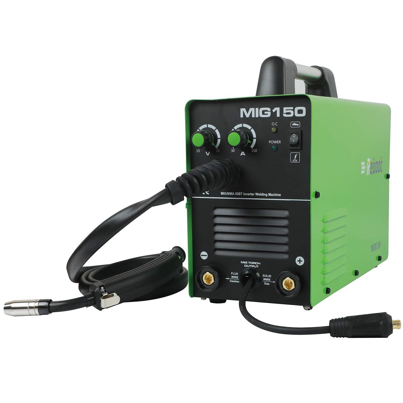 REBOOT MIG Welder MIG150 Gas And No Gas DC 220V 2 in 1 Flux Core Wire Inverter Welding Machine MMA MIG MAG IGBT Inverter Welder