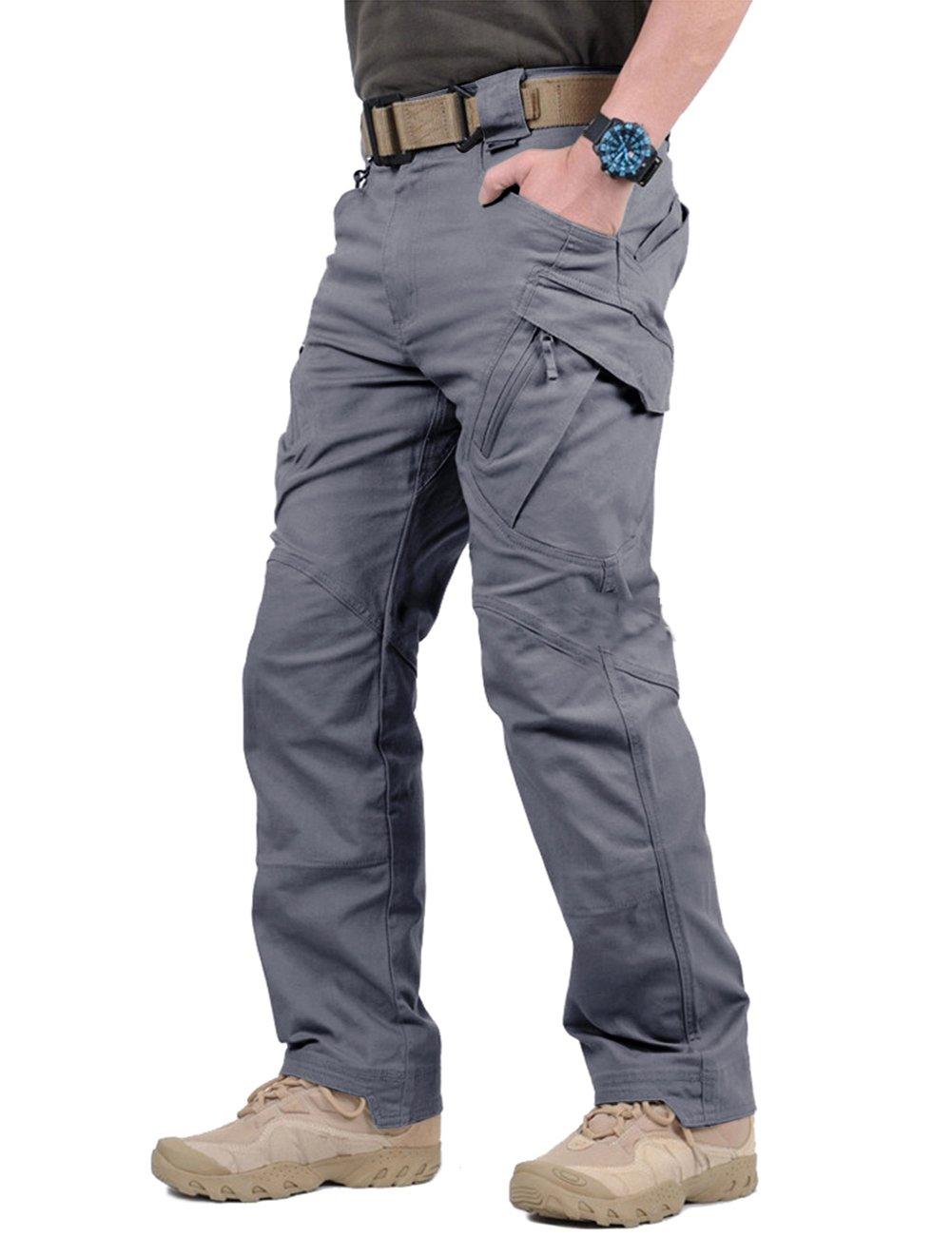 TACVASEN Men's Tactical Urban Ops Tactical Pants Climbing Hiking Hunting Cargo Pants Trousers Gray