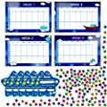 "SpriteGru Potty Training Reward Chart with 4X Waterproof Weekly Charts, 6X Diploma, 600X Colorful Stars. Perfect for Multiple Toddlers' Motivational Toilet Training (Each Chart 11"" X 7"")"
