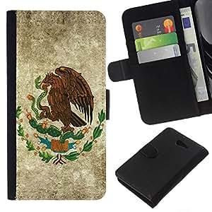 All Phone Most Case / Oferta Especial Cáscara Funda de cuero Monedero Cubierta de proteccion Caso / Wallet Case for Sony Xperia M2 // EAGLE HAWK CREST