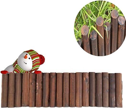 GZHENH-Valla de Madera Al Aire Libre Jardín Decoración De Borde Patio Cerca Balcón Valla De Jardín, 3 Tamaños (Color : Brown, Size : 90x10x5cm): Amazon.es: Hogar