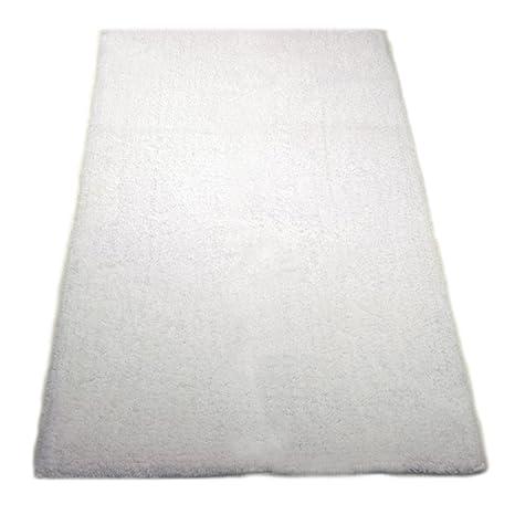 Graccioza Pureza Cachemira alfombra de baño, bambú algodón, Blanco, Large