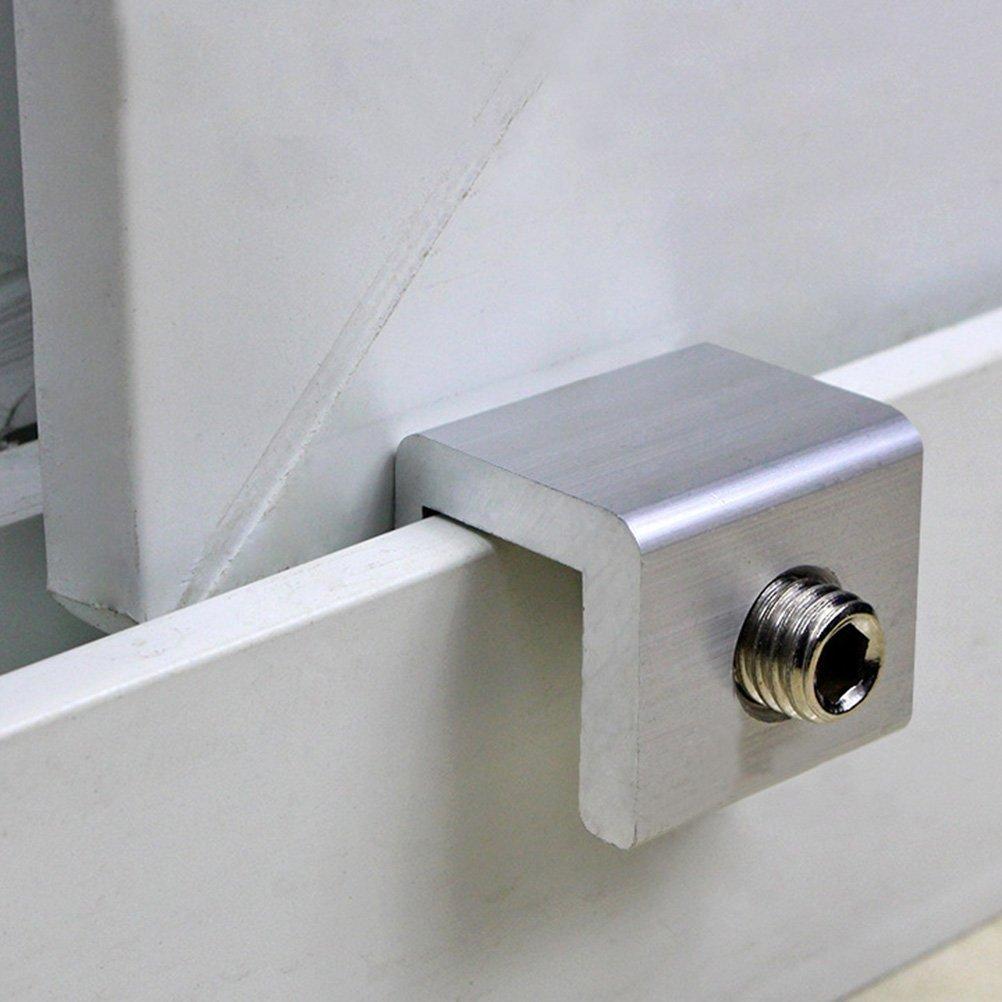 BESTOMZ Cerraduras de Seguridad de Ventana de 4 PCS Cerraduras de Ventana Deslizante Ajustable Cerraduras de Seguridad de Marco de Puerta de Aleación de ...