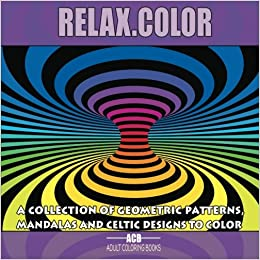 Color Coloring Book For Adults With 60 Pictures In 3 Categories 20 Geometric Patterns Mandalas And Celtic Designs 85 X Inches Purple