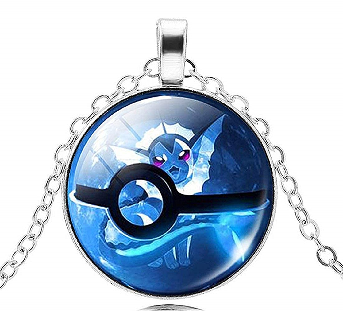 Legisdream Medal Pendant Necklace with Blue Trap Design in Silver Jewellery Gift Idea for Every Occasion