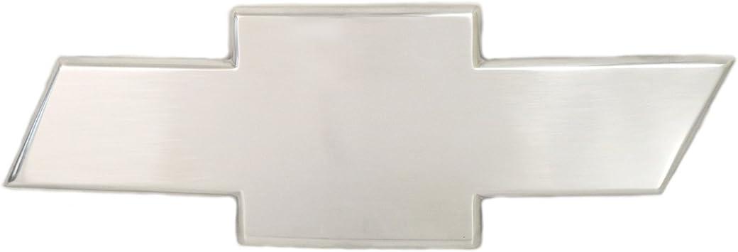 Front Grille Emblem; Chevy Bow Tie No Border; Polished Aluminum 96017P