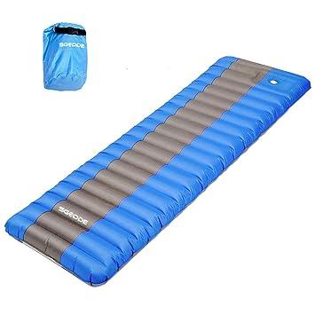 SGODDE Aufblasbare Matratzen, Tragbare 12cm Dick Luftmatratze, Ultraleichte  Aufblasbare Isomatten, Wasserabweisend Und Rutschfest