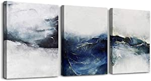 3 piece Framed abstract Canvas Wall Art for Living Room bathroom Wall decor for Bedroom Modern family kitchen office Wall Decoration,Black and white abstract pictures Artwork for home walls painting